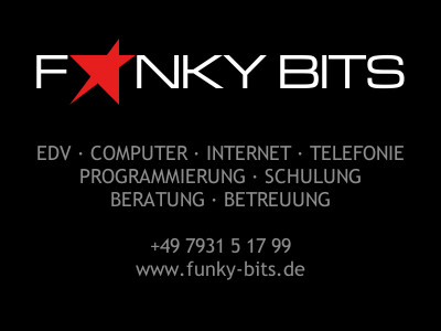 EDV Computer Webdesign Software Hardware Beratung Programmierung Alternativen Homepage WebSite Funky Bits